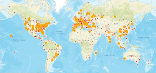 Global Map of Visitors to TedMontgomery.com
